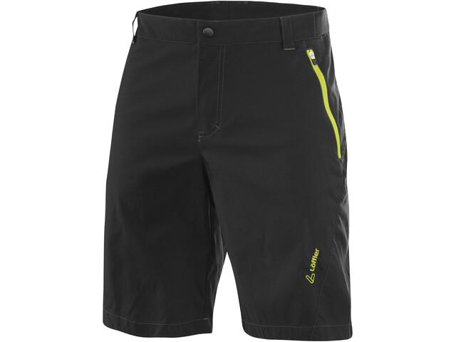 Löffler Comfort CSL Shorts Ciclismo Hombre, negro/verde